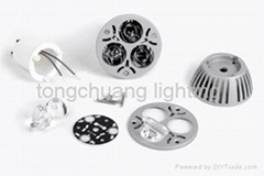LED compoments led accessories led parts led fixture,MR16 aluminum housing