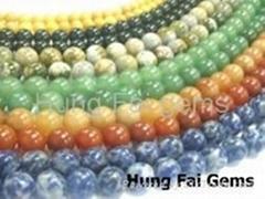半寶石珠子珠串