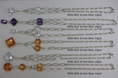 锆石+银手工项链