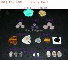 Semi precious gemstone Carvings