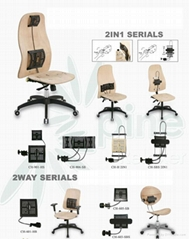 辦公椅&電腦椅可調式挺腰器零配件