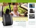 Adjustable Massage Car Seat Lumbar Cushion 1
