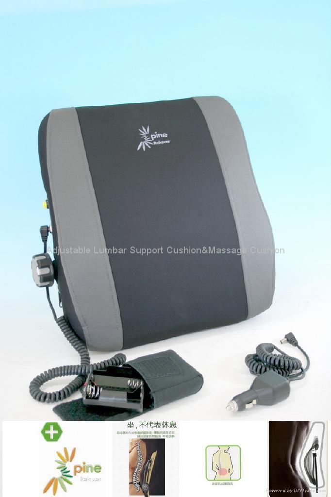 Adjustable Massage Car Seat Lumbar Cushion 2