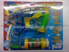 Bo auto bubble gun with 4 led light and music