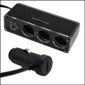 USB charger supply and triple socket 1