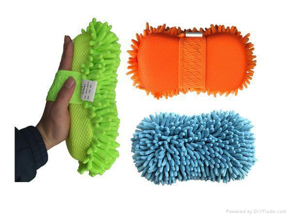 microfiber mesh scrubber and sponge 1