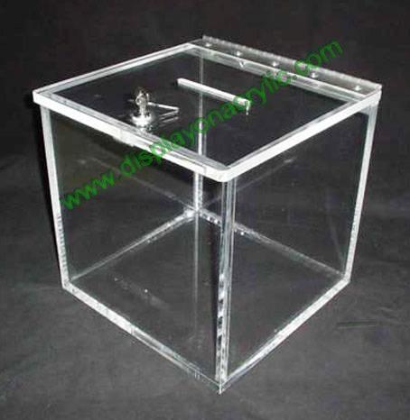 Acrylic Donation Box Ygb 001 Ycw China Manufacturer