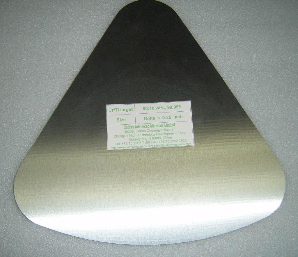 Chromium Titanium (Cr/Ti) alloy target
