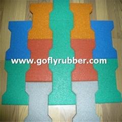 Dog-bone Shape Rubber Tile