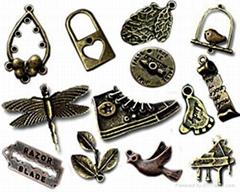 Antique Bronze Tibetan Silver Beads