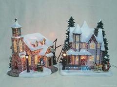 树脂工艺品树脂房子模型摆件