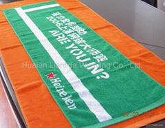 提花logo毛巾