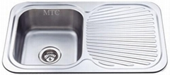 Single Bowl Single Drainer Stainless Steel Sinks