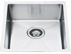 Satin Finish Single Bowl Stainless Steel Undermount Kitchen Sink