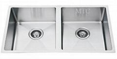 Double Bowl Stainless Steel Undermount Kitchen Sink
