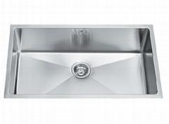Satin Finsh Stainless Steel Single Bowl Undermount Bar Kitchen Sinks