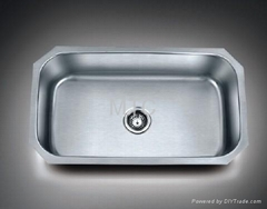 Stainless Steel European Style Undermount Single Bowl Kitchen Sinks