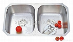 Stainless Steel Double Equal Bowl Sink