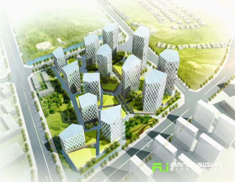 3d Rendering Urban Planning China Services Or Others