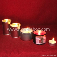 tin can for candle