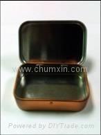 Hinged tin box