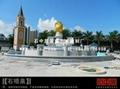 廣場噴泉石雕