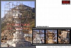 大型寺庙花岗岩佛像石雕