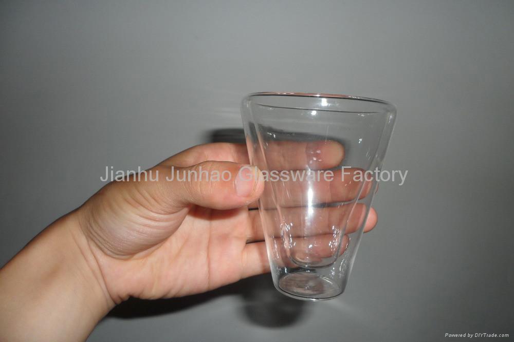 Double Wall Glass coffee mug 1
