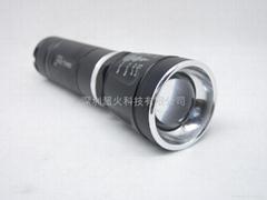 可調焦強光手電筒 透鏡調節 無級變焦