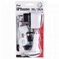 Wholesale Universal USB/AC/Car Charger Adapters for iPhone 3G/3GS