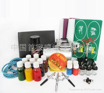 Airbrush tattoo kit temporary tattoo kit golden phoenix for At home tattoo kit