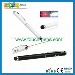 CTP011-3 in 1 Red Laser Capacitive Stylus Touch Pen