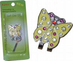 golf ball marker golf cap clip
