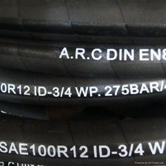 Hydraulic Rubber High Pressure Hose SAE R12