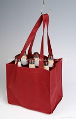 Large non woven wine bag for 6 bottle