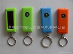 供應2LED太陽能鑰匙扣