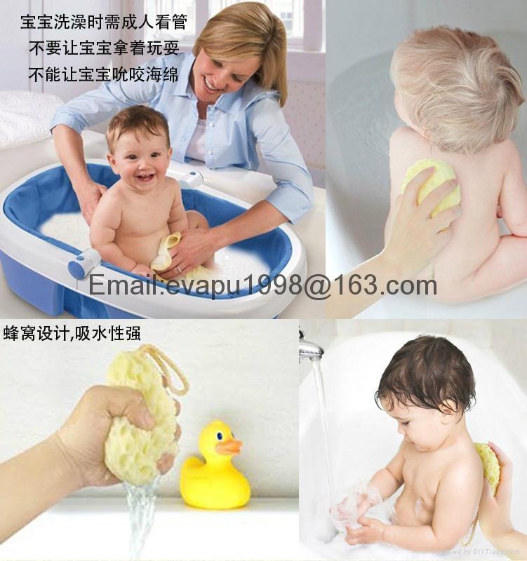 baby bath sponge baby cleaning sponge Bath Shower Cleaner Scrubbing ...