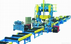 steel H beam integrated machine of assemly, welding and straightening