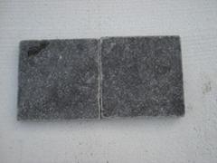 Blue limestone honed and tumbled tile
