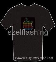 Sound activated el t-shirt