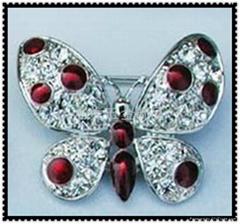 金屬合金蝴蝶胸針胸花