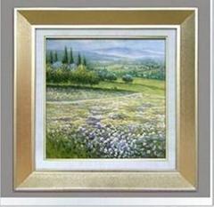 花卉装饰画/手绘油画/有框画/抽象画/过道/玄关挂画