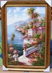 (地中海)手繪油畫/裝飾畫/抽象畫/有框畫