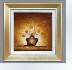 花卉裝飾畫/手繪油畫/有框畫/抽象畫/過道/玄關挂畫
