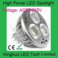 3*1W MR16 LED spot light