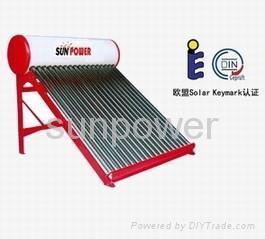 non pressure solar water heater 1