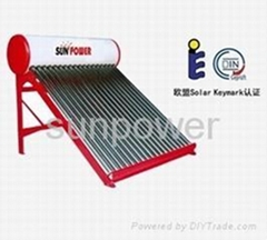 non pressure solar water heater
