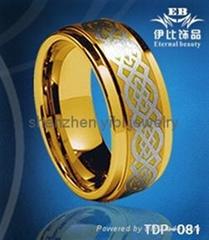 时尚简约钨钢戒指
