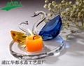 crystal candlestick/candle holder