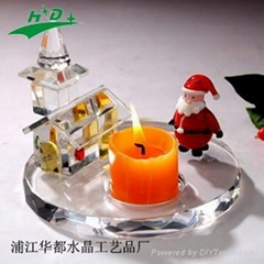 crystal candlestick/candle holder HD-T003